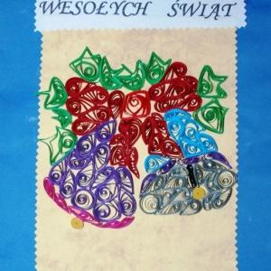 Kartka �wi�teczna wojewody zaprojektowana w 2013 roku przez 13 – letni� Kasi�.