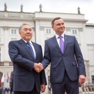 Powitanie prezydenta Kazachstanu Nursu�tana Nazarbajewa fot. Krzysztof Sitkowski / KPRP