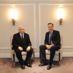Spotkanie Prezesa PiS J.Kaczy�skiego z Premierem Wielkiej Brytanii D.Cameronem, fot. pis.org.pl