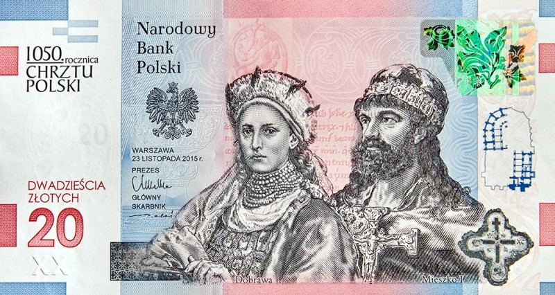 Znalezione obrazy dla zapytania kolekcjonerskie 20 zł