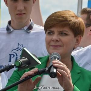 Kandydatka PiS na premiera, Beata Szyd�o, fot. eOstroleka.pl