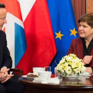 Premier Beaty Szyd�o z premierem Davidem Cameronem, fot. P. Tracz/KPRM