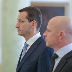 Uroczysto�� powo�ania wicepremiera Mateusza Morawieckiego na stanowisko ministra finans�w. (fot. Andrzej Hrechorowicz / KPRP)